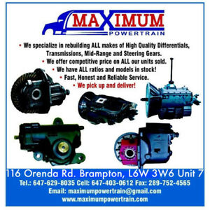 Transmissions Differentials Eaton Fuller Spicer Rockwell Meritor