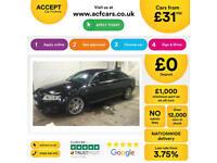 Black AUDI A6 SALOON 2.0 3.0 TDI Diesel SPORTS LINE FROM £31 PER WEEK!