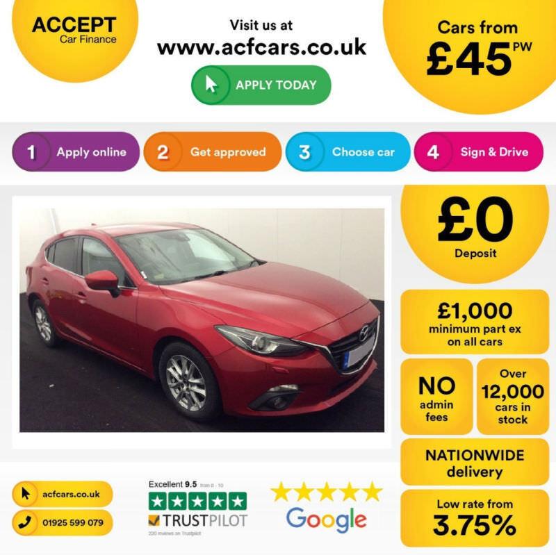 Mazda Mazda3 SPORT SE- L FROM £45 PER WEEK!