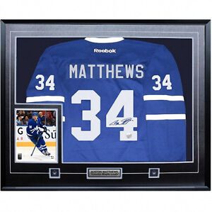 Auston Matthews Signed Framed Toronto Maple Leafs with Photo
