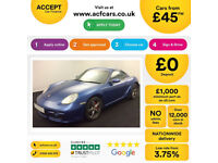 Porsche Cayman S FROM £45 PER WEEK!