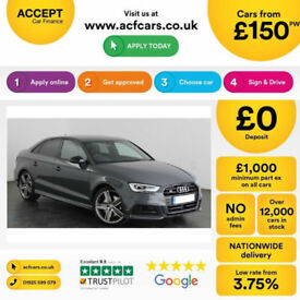 Grey AUDI S3 2.0 Petrol QUATTRO BLACK EDITION S-T FROM £155 PER WEEK!