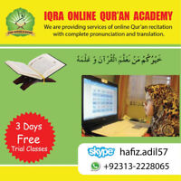 QURAN CLASSES OFFERED ONLINE WITH TAJWEED AND TRANSLATION