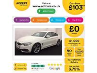 White BMW 420d Sport Coupe 4 door Automatic Diesel FROM £103 PER WEEK!