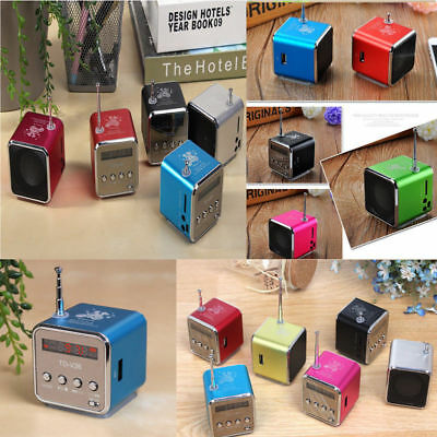 Mini Micro USB Stereo Portable Speaker Music Player FM Radio PC MP3 /4 Notebook