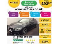 2016 BLACK BMW 435D GRAN COUPE 3.0 XDRIVE M SPORT DIESEL CAR FINANCE FR £92 PW