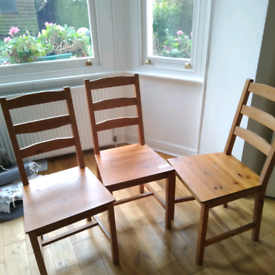 3 kitchen chairs