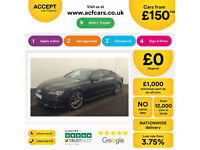 Black AUDI A7 HATCHBACK 3.0 TDI Diesel SPORT S LINE FROM £250 PER WEEK!