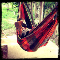 Hammocks Indoor or outdoors... cotton material