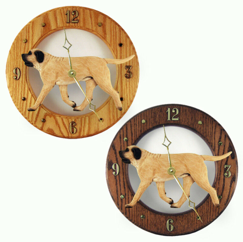 Mastiff Wood Clock Fawn