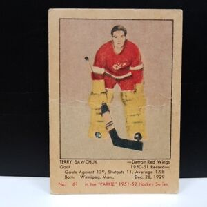 TERRY SAWCHUK .... 1951-52 Parkhurst .... his ONLY ROOKIE CARD
