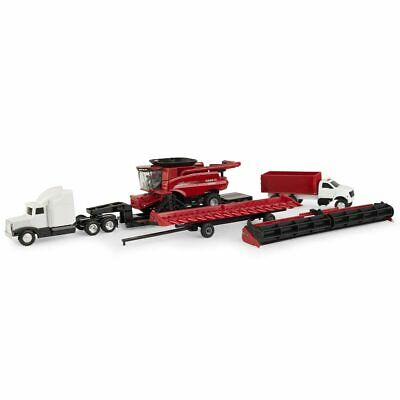 1/64 Case IH 9250 Tracked Axial Flow Combine 7 Piece Harvesting Set 44165