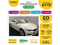 White BMW 430d M Sport Convertible 258bhp Auto 2015 FROM £119 PER WEEK!