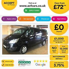 Ford Transit Custom Limited FROM £72 PER WEEK!