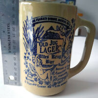 """OLD JUG LAGER"" FRAELICH ROMMEL BREWING CO STONEWARE BEER STEIN Longueuil / South Shore Greater Montréal Preview"