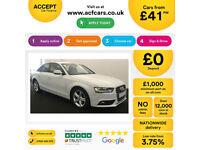 White AUDI A4 SALOON 1.8 2.0 TDI Diesel SPORTS LINE FROM £41 PER WEEK!