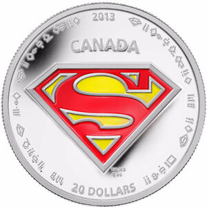 Royal Canadian Mint 2013 Superman S-Shield Pure Silver Coin