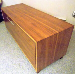 Modern Walnut TV credenza/sideboard w/lock $240 or best offer