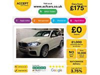 White BMW X5 3.0 D 258bhp M Sport AUTO SatNav 2016 FROM £175 PER WEEK!