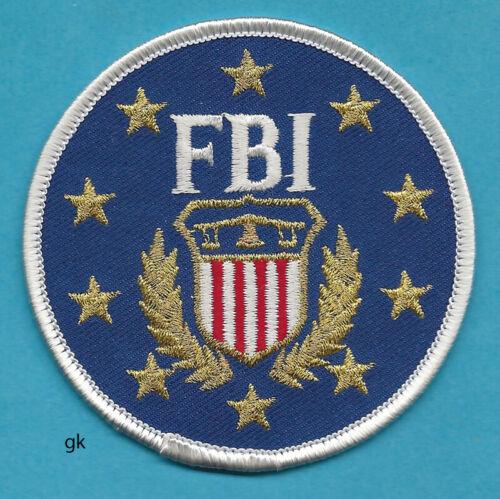 "FBI  POLICE SHOULDER  PATCH ROUND   3"" BLUE / GOLD STARS."