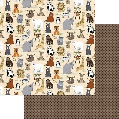 Photo Play: 12x12 We Bought a Zoo: Wild Thing 2pc Scrapbook Paper