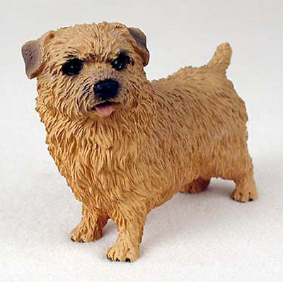 Norfolk Terrier Hand Painted Collectible Dog Figurine