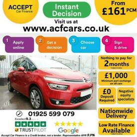 image for 2016 RED CITROEN C4 GRAND PICASSO 1.6 BLUEHDI EXCLUSIVE CAR FINANCE FR £161 PCM