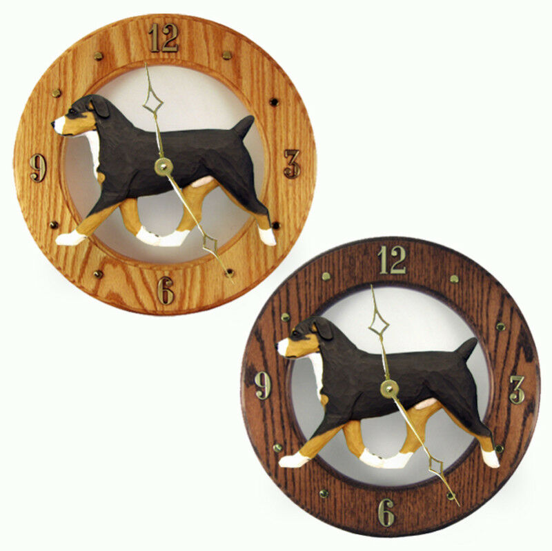 Entlebucher Mt. Dog Wood Clock