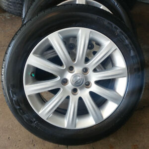 4 mags Chrysler 200 pneus d'été/ tires 225-55-17