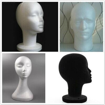 Styrofoam Foam Head Stand Mannequins Model Hair Glasses Hat Head Mould Female Us