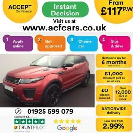 2015 RED RANGE ROVER EVOQUE 2.0 TD4 180 HSE DYNAMIC 4WD CAR FINANCE FR £117 PW