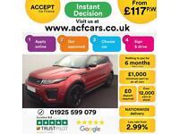 2015 RED RANGE ROVER EVOQUE 2.0 TD4 180 HSE DYNAMIC 4WD CAR FINANCE FR £117 PW