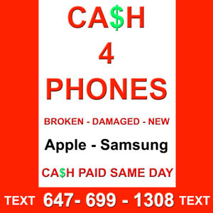 *WE buy Phones iPhones / Samsung Cracked - Any Condition