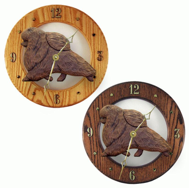 Pomeranian Wood Clock Brn