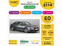 Grey AUDI A4 SALOON 1.8 2.0 TDI Diesel SPORTS LINE QUATTRO FROM £114 PER WEEK!