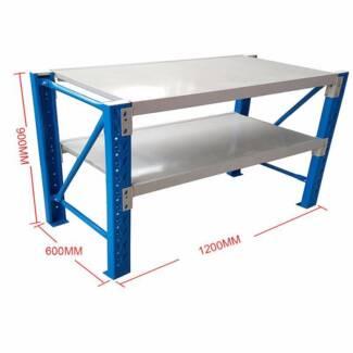 1.2X0.9M Steel Garage Warehouse Rack Shelves Shelving Work Bench