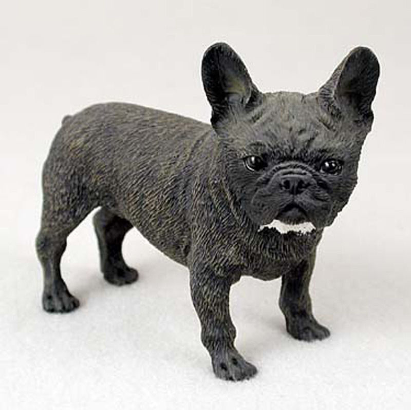 French Bulldog Figurine Hand Painted Collectible Statue