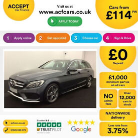 MERCEDES-BENZ C220 C250 D AMG LINE SPORT ESTATE PREMIUM PLUS FROM £114 PER WEEK!