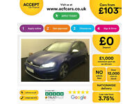 BLUE VOLKSWAGEN GOLF R 2.0 TSI 300 310 R 4MOTION DSG 5 DOOR FROM £103 PER WEEK!