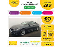 Grey BMW 420d M Sport Coupe 2 door Automatic FROM £93 PER WEEK!