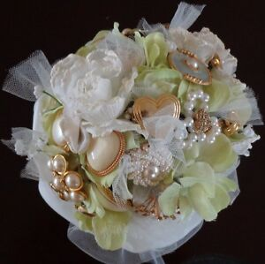 JEWELLED WEDDING BOUQUET, one-of-a-kind - WILL PERSONALIZE Belleville Belleville Area image 6