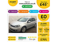 VOLKSWAGEN GOLF 1.4 TSI MATCH SE 1.6 1.9 2.0 TDI SPORT GTD GTI FROM £45 PER WEEK