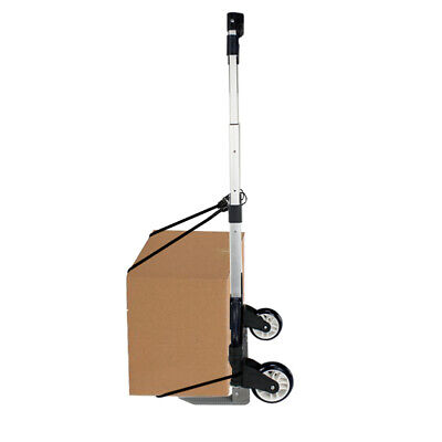 Folding Luggage Trolley Cart Aluminium Hand Dolly Push Truck 176lbs Black Cord