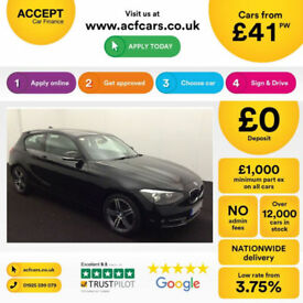 Black BMW 116d Sport Manual 2013 2.0 5 door FROM £41 PER WEEK!