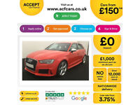 Audi RS3 FROM £150 PER WEEK!