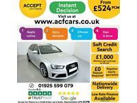 2014 SILVER AUDI RS4 AVANT 4.2 FSI QUATTRO 444 BHP CAR FINANCE FR £524 PCM