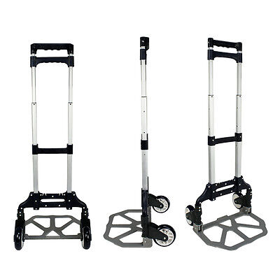 176lbs 80kg Aluminium Cart Folding Dolly Truck Hand Collapsible Trolley Luggage