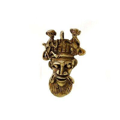 Mask African Bamoun Ancestor Monkey Door Keys Ethnic Tribale B10