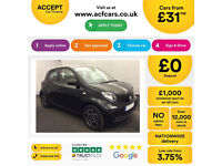 SMART FORFOUR 1.0 PRIME PREMIUM Coupe PASSION PURE GRAND STYLE FROM £31 PER WEEK