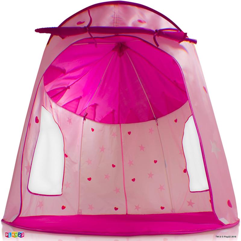 Play22 Tent Castle Glow in Stars PORTA